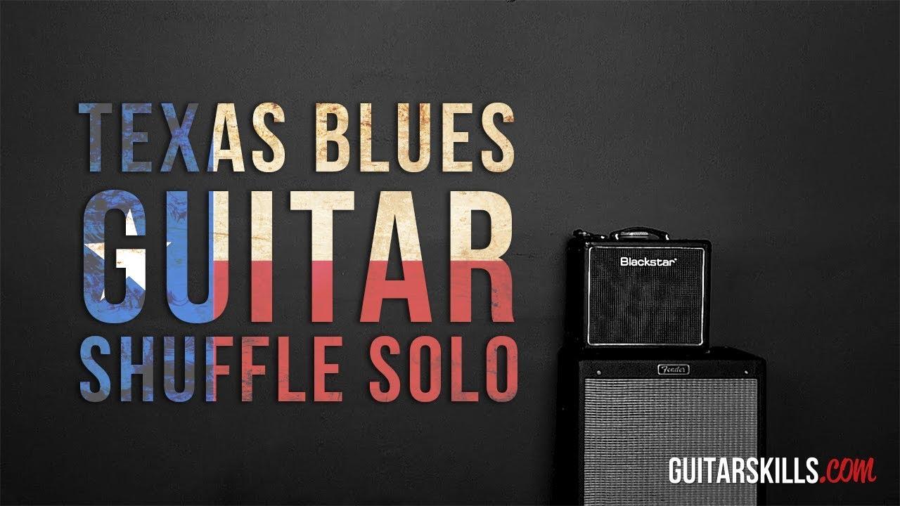 Texas Blues Guitar Shuffle Solo Cool Chord Tone Trick Youtube