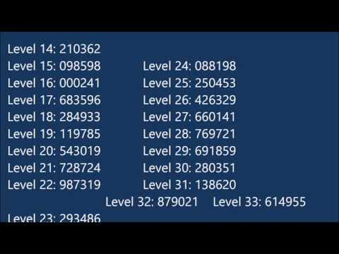 Bloxorz Cheat Codes Free Levels 1 33