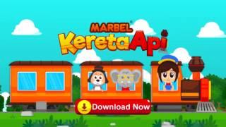 Marbel Kereta Api - Game aman untuk anak, download gratis di android google play store
