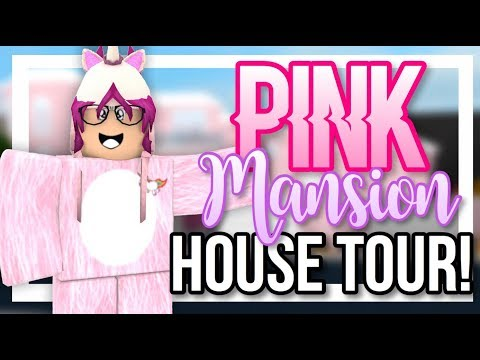 PINK HOLLYWOOD MANSION! || BLOXBURG HOUSE TOUR