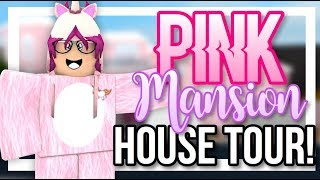PINK HOLLYWOOD MANSION! || BLOXBURG HOUSE TOUR