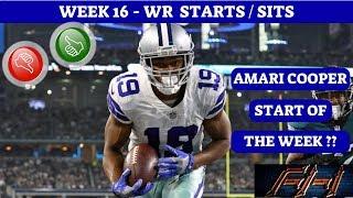 2018 Fantasy Football Lineup Advice  - Week 16 WR's Start/Sit Episode