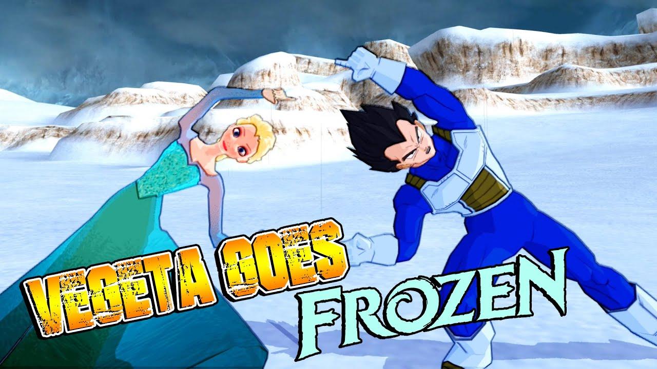 Vegeta and Elsa FUSION   Vegeta Goes Frozen   DBZ Tenkaichi 3 (MOD)