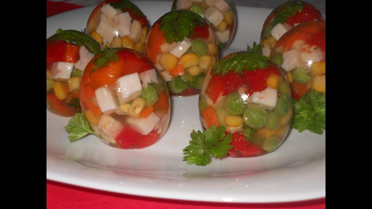 Заливное Яйца Фаберже. Рецепт