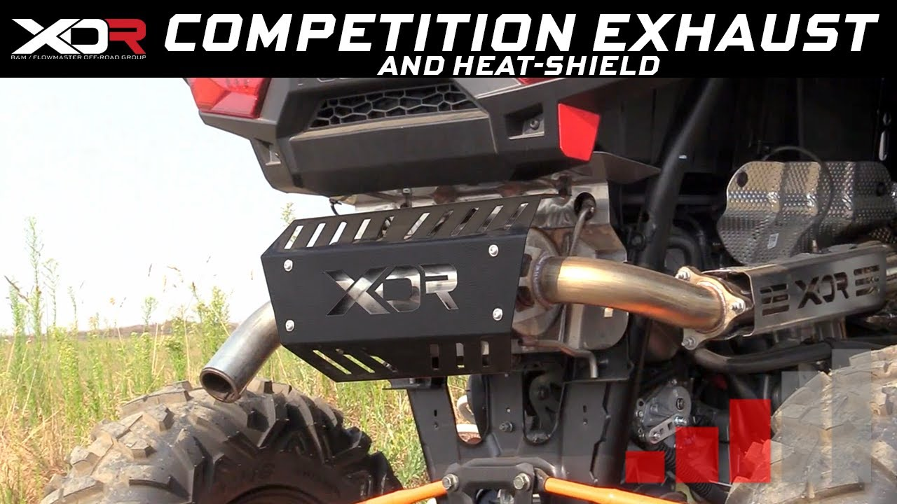 2016 19 polaris rzr xp xp4 turbo xdr off road competition exhaust heat shield