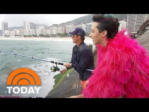 Johnny Weir Is In The Pink As He Goes Fishing With Billy Bush | TODAY