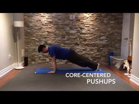 Core-Centered Pushups