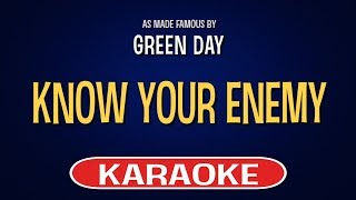 Green Day - Know Your Enemy (Karaoke Version)