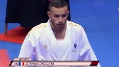 Final: DaCosta (FRA) dominates Figueira (BRA) in -67kg Kumite: Karate 1 Premier League Dubai 2020