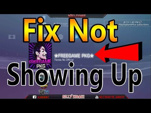Fix FreeGame PKG Not Showing Up ( Han PS3 )