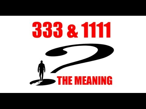Do You See Numbers?  333, 3:33 am or 1111