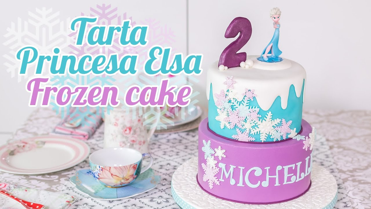 Tarta Princesa Elsa Frozen Decorada Con Fondant Quiero Cupcakes