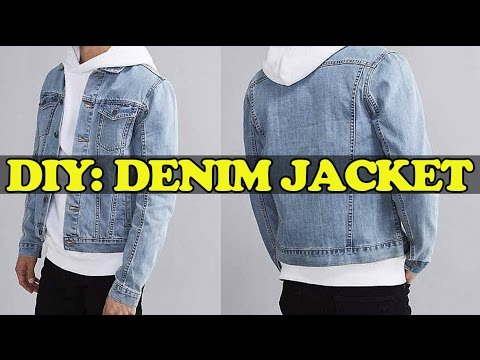 diy denim jacket from scratch youtube