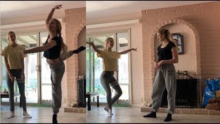 dancer tries to teach non-dancer ballet