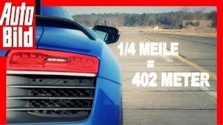 Dragrace - Audi RS 6 Avant vs. Audi R8 LMX