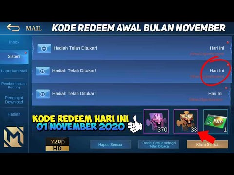 3 KODE REDEEM ML HARI INI 01 NOVEMBER 2020 - NEW CODE ...