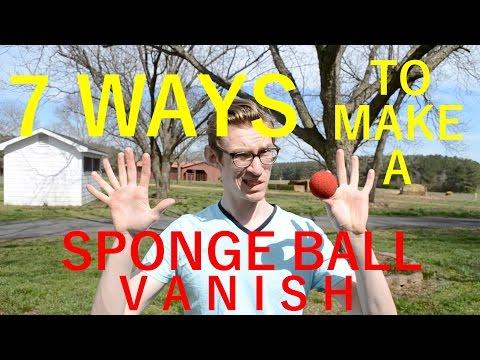 7 WAYS to make a SPONGE BALL VANISH