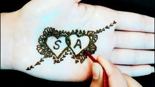 S ❤ A Love Tattoo Mehndi Designs | Simple #latest heena #mehandi design for beginners |How To Apply