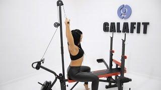 Galafit MS100 обзор силовая станция домашняя мультистанция тренажер скамья для дома жим