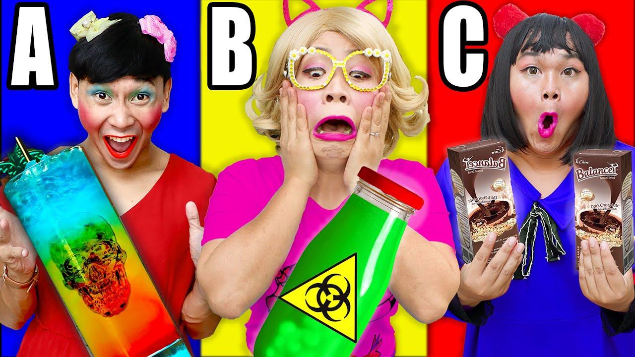 แข่ง ดื่มน้ำตามตัวอักษร A B Cชาเลนจ์!!!