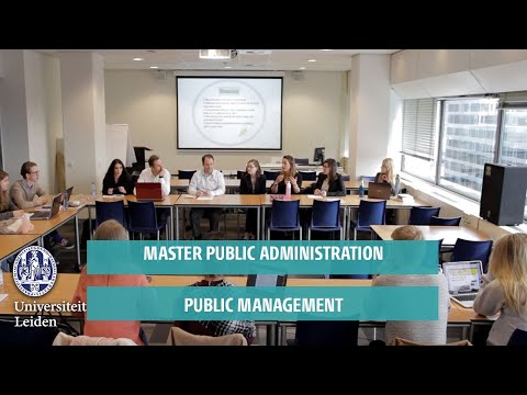Master Public Administration: Public Management