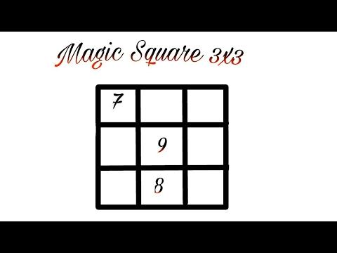 Solve Magic square 3x3 amazing maths trick