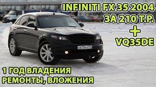 видео: Год владения Infiniti FX 35 2004 за 210т.р.. Сколько вложено, что ремонтировали