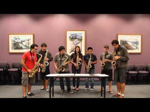 Hopkins Sax Jam - Carol of the Bells (Pentatonix)