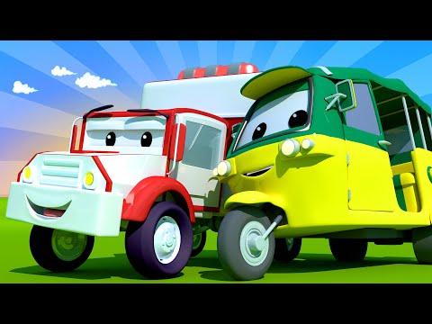 Amber the Ambulance -  Tao The Tuk Tuk Can'T Stop Sneezing! - Car City ! Trucks Cartoon for kids