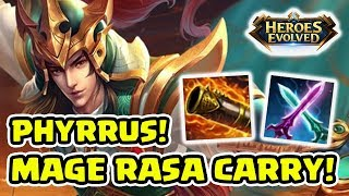 Heroes Evolved Indonesia - Mage Rasa Carry! Damage Super Edan! Phyrrus!
