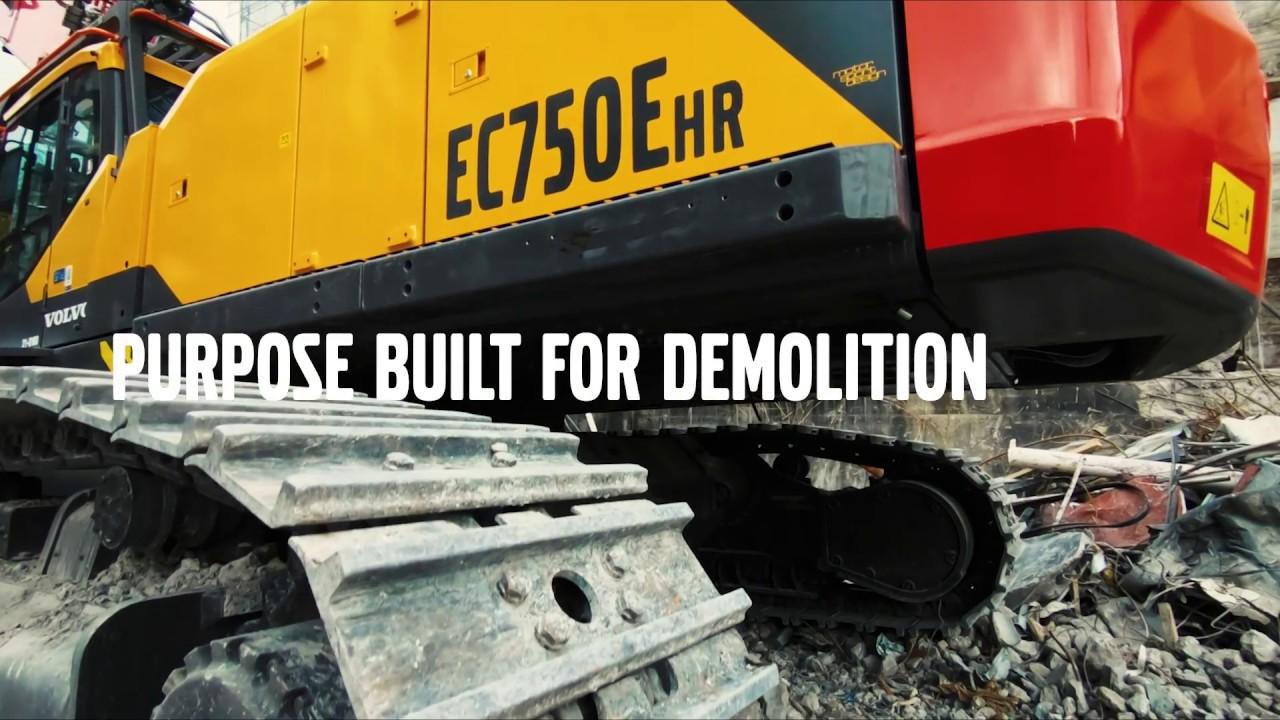 Volvo EC750EHR - Purpose Built for Demolition
