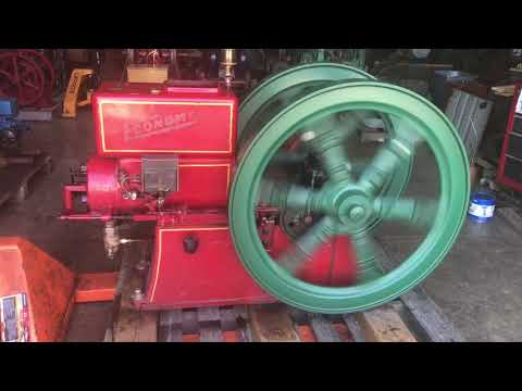 8 hp Economy hit Miss engine with clutch pulley