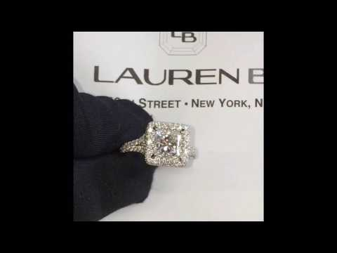 1.25 ct Princess Cut Diamond Halo Engagement Ring