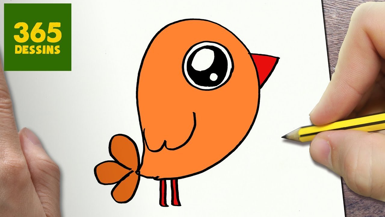 Comment dessiner petit oiseau kawaii tape par tape dessins kawaii facile youtube - Dessins oiseau ...
