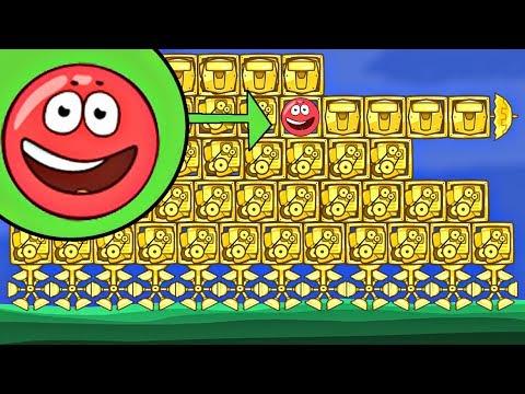 ЗОЛОТОЙ ТАНК И 9999 КВАДРАТОВ В BAD PIGGIES в игре красный шарик  про New Red Ball 4