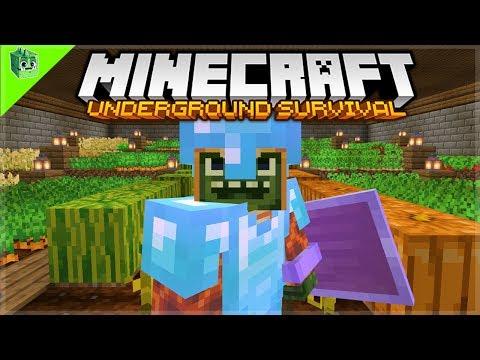 The Crop Garden COMPLETE! - Minecraft Underground Survival Guide (35)