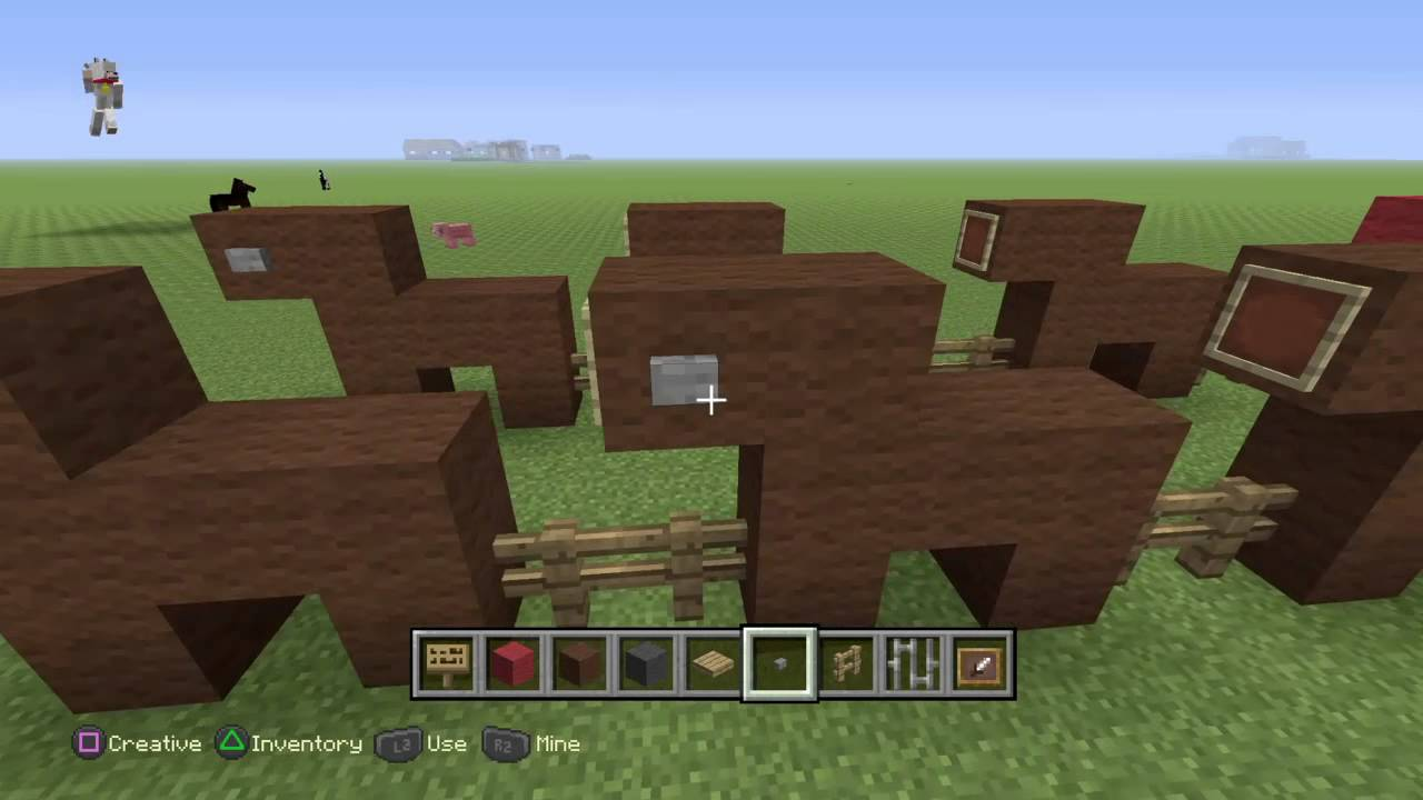 PlayStation4:Minecraft how to build Santas sleigh And reindeer ...