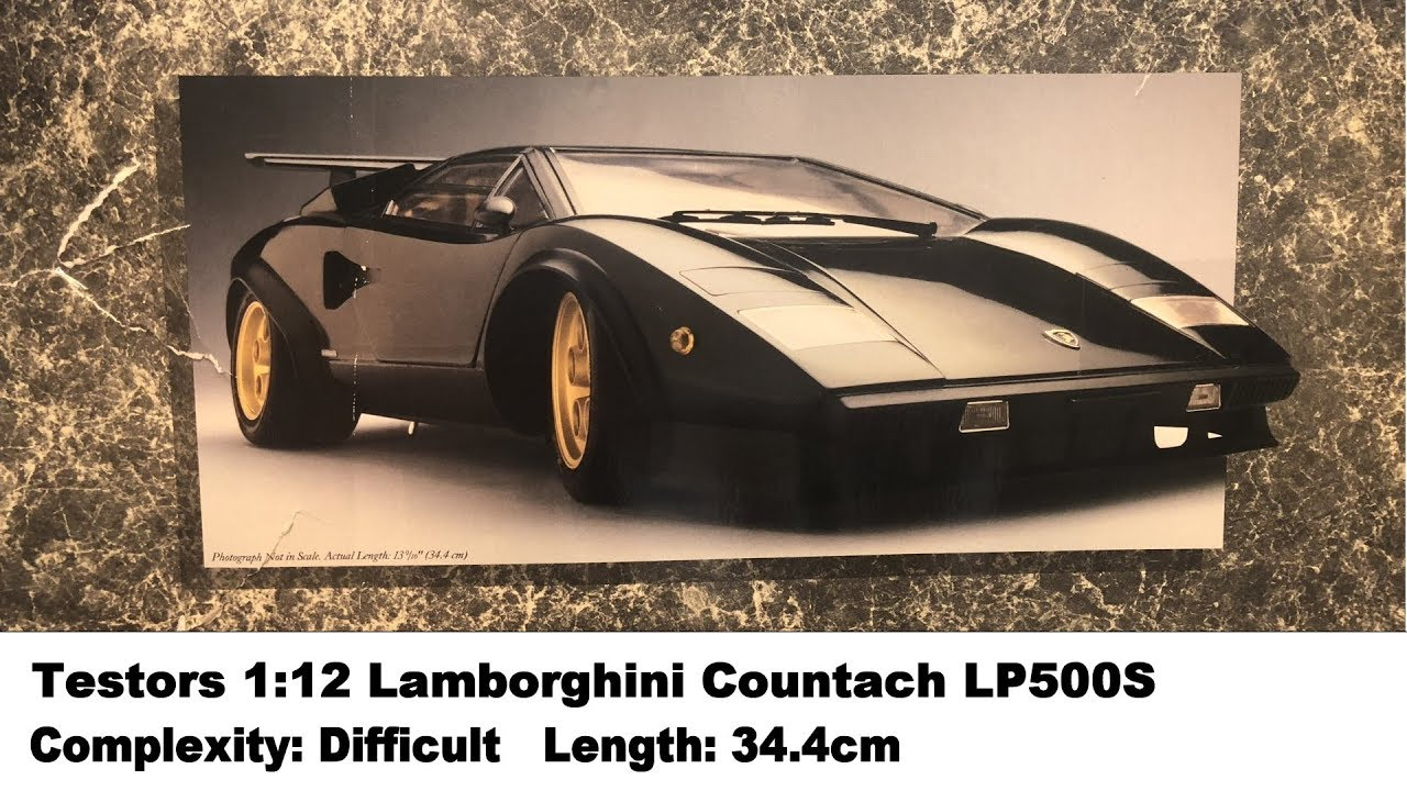 Testors 1 12 Lamborghini Countach Lp500s Kit Review Youtube
