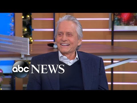 download Michael Douglas' dad Kirk is about to turn 102 and he discovered FaceTime