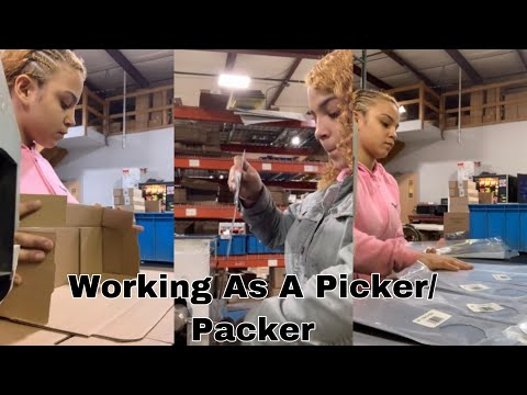 PICKER PACKER IN A WAREHOUSE | A Day At Work With Fathi