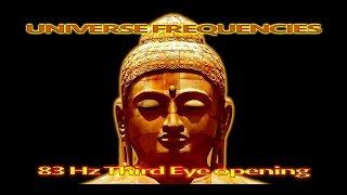 1h Deep Meditation Frequency - 83 Hz Third Eye Opening