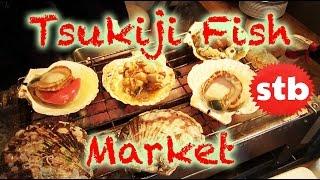 Tsukiji Fish Market (Japanese Sashimi & Seafood in Tokyo, Japan) ★ SoloTravelBlog