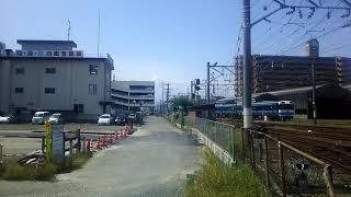 JR四国 松山駅貨物ターミナル裏 松山行き2000系特急宇和海8号 到着