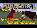 Minecraft 1.10 | How To: Craft Netherwart Blocks & Red Netherbrick!