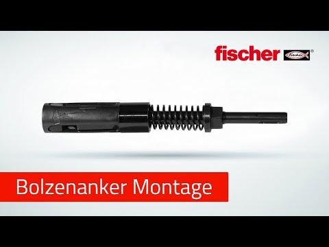 Montage von Bolzenankern - schnell und kräfteschonend mit dem fischer FA-ST