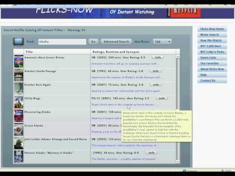 How To Find Instant Movies On Netflix With Flicks-Now : Www.flicks-now.com