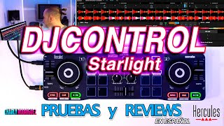 HERCULES DJCONTROL STARLIGHT (Pruebas Y Reviews) En Español