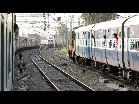 3 गाड़िया एकसाथ अम्बाला जंक्शन में | Triple Parallel  Moving Train in Ambala