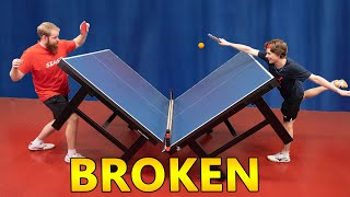 Broken Ping Pong Table - Can we Play on it?
