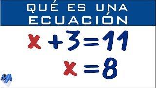 Que es una ecuación y como se soluciona